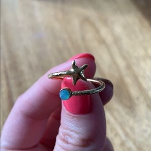 Alex and Ani starfish adjustable ring